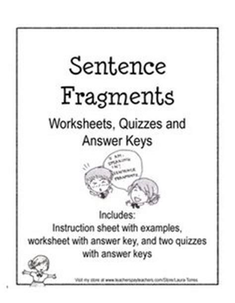 Sentence Fragments To Complete Sentences  Sentence Fragments, Complete Sentences And Sentences