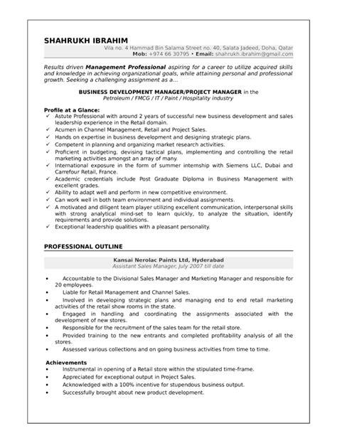 best business development manager resume template
