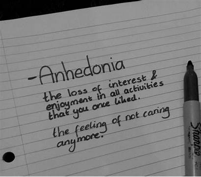 Caring Quotes Anymore Feelings Anhedonia Word Saying