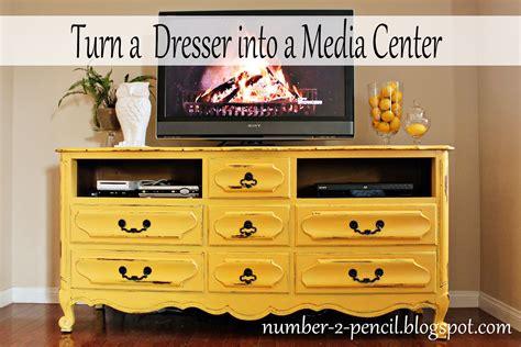 Vintage Dresser Into Media Center