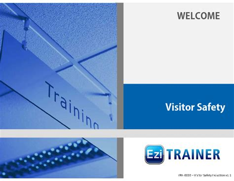 Visitor Safety Induction Training (PowerPoint) Slideshow View