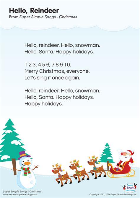 hello reindeer lyrics poster simple 478 | lyrics poster hello reindeer