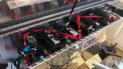 jayco toy hauler  battery box upgrade youtube