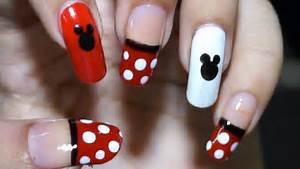 Nail art at home easy cool mickey mouse design in