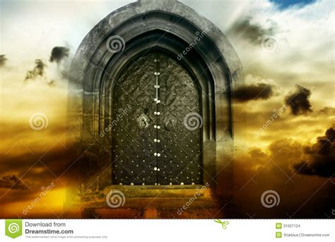 et la porte magique porte magique mystique images stock image 31007124