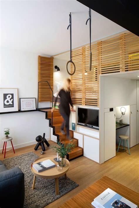chambre avec coin salon chambre salon aménagements astucieux pour petits espaces