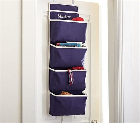 Navy Harper Over Door Storage Pottery Barn Kids