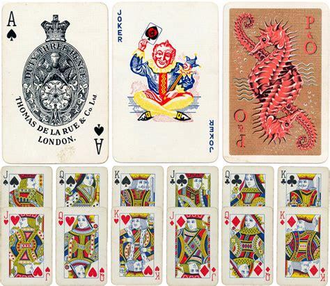 de la rue  world  playing cards