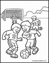 Coloring Pages Soccer Sports Player Books Printable Colouring Sport Team Play sketch template