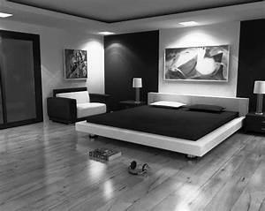 Modern bedroom furniture black and white