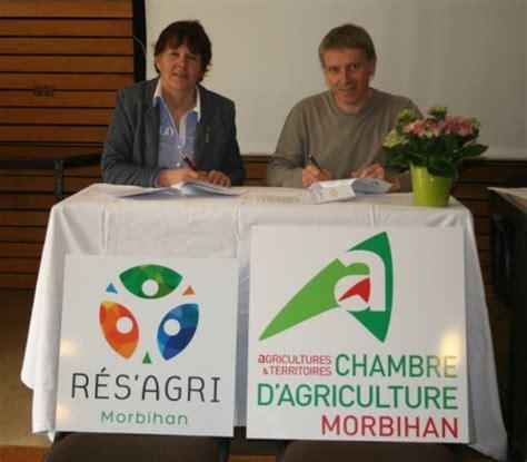 chambre d agriculture du morbihan signature de la nouvelle convention entre rés 39 agri 56 et