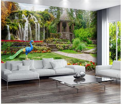wallpaper garden landscapes waterfalls photo wall