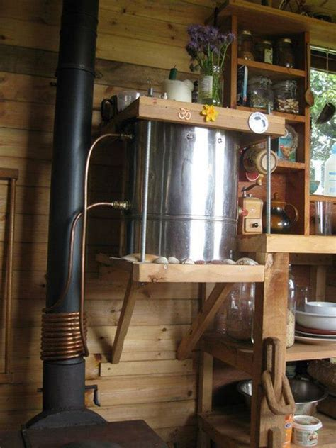 cooking  hot water  cool creative wood stove