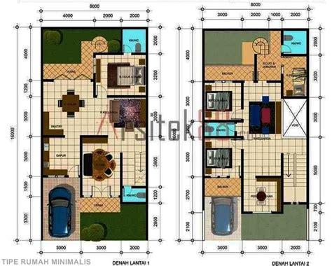 rumah  lantai model modern minimalis terdiri  kamar tidur