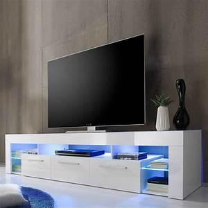 Tv Lowboard Mit Tv Halterung : tv lowboard finesto in hochglanz wei 200 cm ~ Michelbontemps.com Haus und Dekorationen