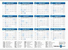 Weekly Number Calendar 2017 weekly calendar template