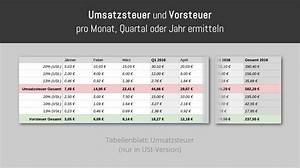 Vorsteuer Berechnen : ea tabelle pro 2018 ea ~ Themetempest.com Abrechnung