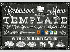 Vector Chalkboard menu Template ~ Illustrations ~ Creative