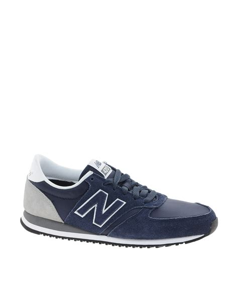 shoes 420 womens new balance gray navy with dogeared new balance 420 navy suede sneakers in blue lyst