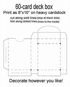60 card deck box template for magic pokemon yu gi oh With card box template generator