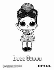 Boss Surprise Doll Coloring Pages Queen LOL