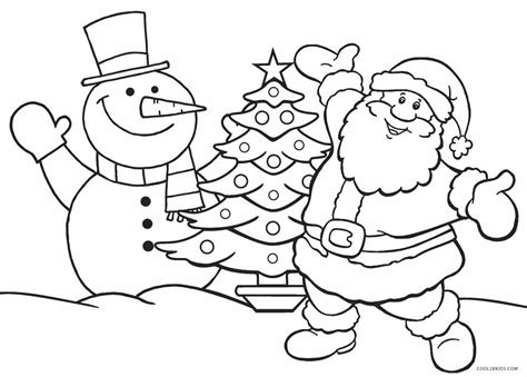 printable santa coloring pages  kids coolbkids