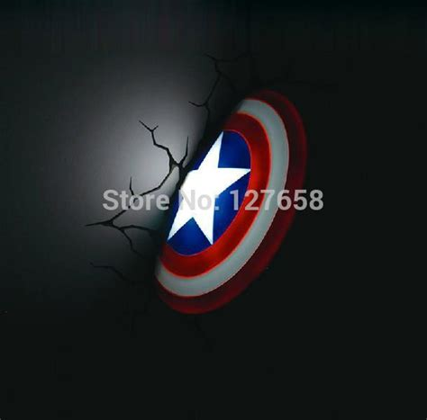 aliexpress buy 3d creative gift marvel captain america shield led wall l new box from