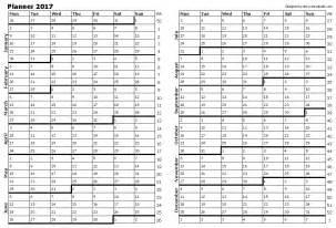 2017 Free Year Planner Printable