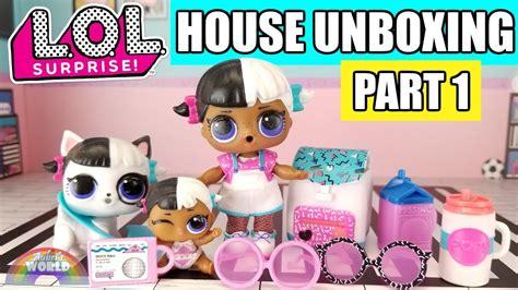 lol surprise house unboxing part  speed building lol