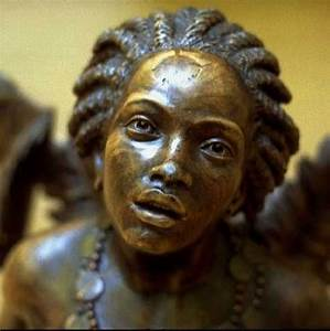 """Ship's figurehead: """"Africa"""" (Anonymous French woodcarver ..."""