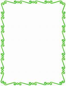 green spirals border - /page_frames/spiral_border/green ...