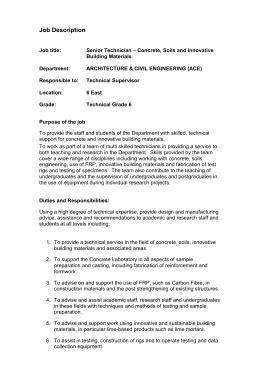 Concrete Formwork Safe Work Method Statement
