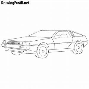How to Draw a DeLorean DMC | Drawingforall.net
