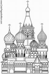 Coloring Grown Cathedral Church Basil Adult Ups Famous Buildings Colouring Building Printable Malvorlagen Sample Fb Join Ausmalen Ausmalbilder Budowla Drawing sketch template