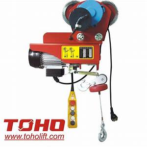 China Mini Electric Wire Hoist With Moving Trolley