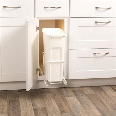 kitchen pull slide out trash waste can plastic container
