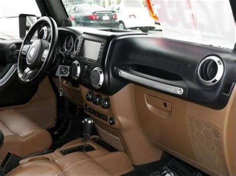 jeep rubicon brown leather interior jeep jeep wrangler