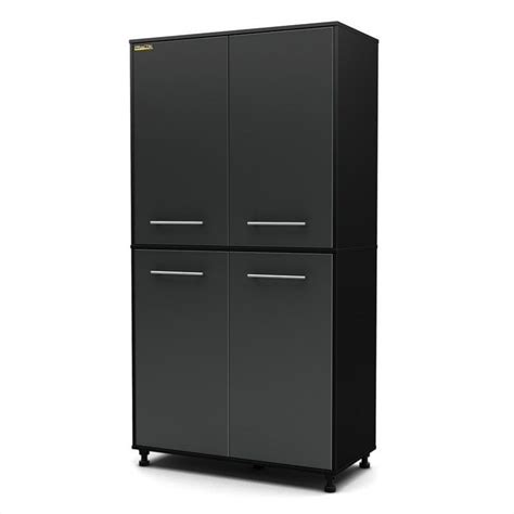 south shore storage cabinet black south shore karbon storage cabinet in black and