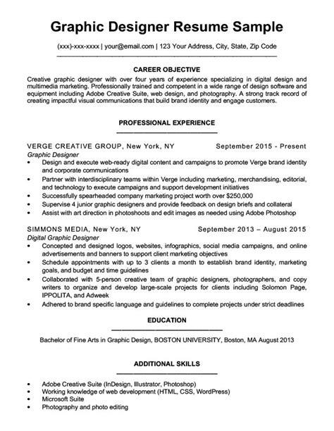 Graphic Design Resume Sample & Writing Tips  Resume Companion