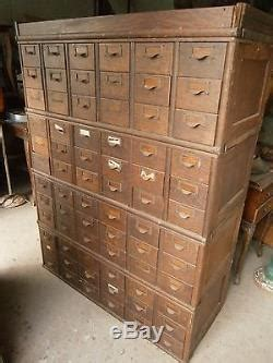 Vintage Library Card File Cabinet by Antique Vintage Oak Library Card Catalog File Cabinet 72
