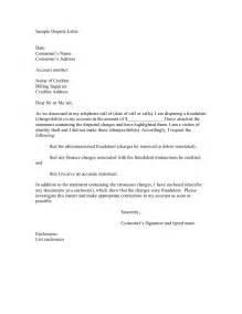 sample letter disputing creditdebit card charge