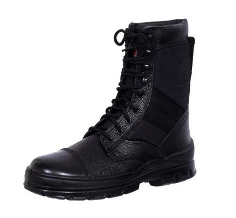 Army Semi Boot black leather combat army boots for indian