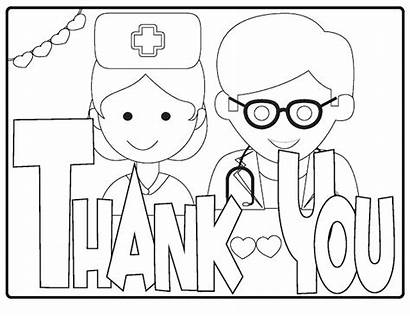 Thank Staff Poster Nhs Colouring Coloring Printable