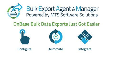 bulk export agent  manager beam application