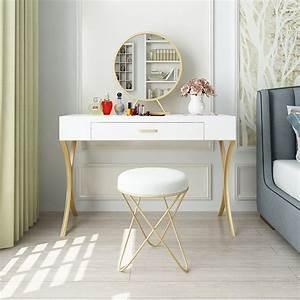 Bedroom, Dresser, Nordic, Modern, Minimalist, Makeup, Taiwan, Small, Apartment, Mini, Makeup, Table, Makeup