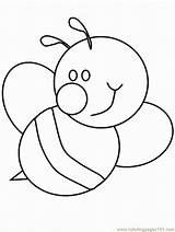 Bumble Bee Printable Coloring Popular sketch template