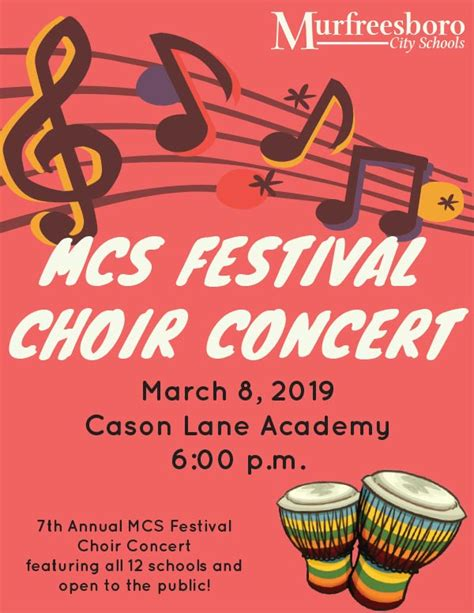 mcs festival choir concert murfreesboro city schools murfreesboro
