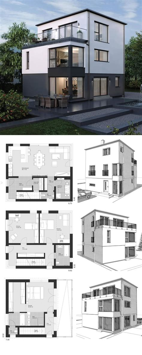 Moderne Haus Planung by Moderne Einfamilienhaus Architektur Mit Flachdach 3