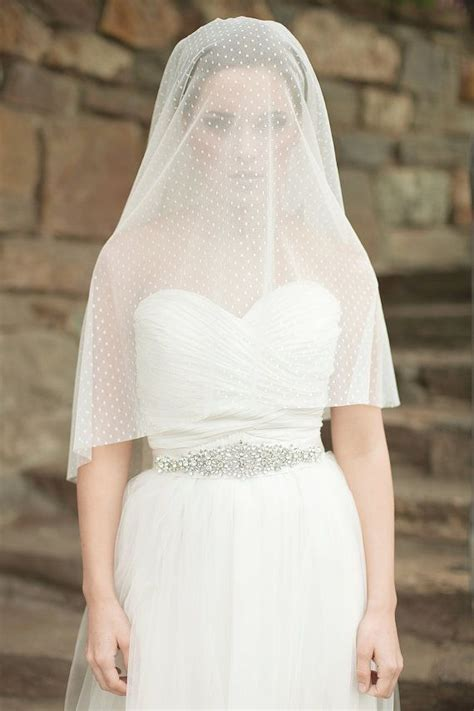 Wedding Veil Dotted Circle Veil Drop Veil Bridal Veil