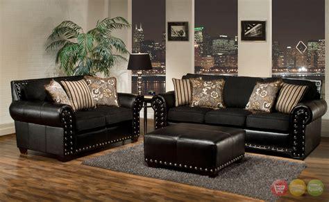 nailhead trim sofa set sofa sets